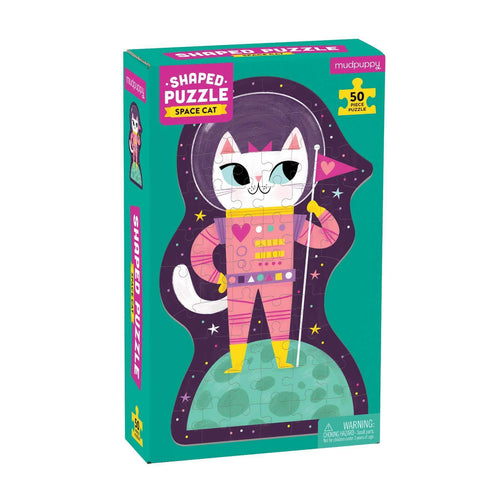 Space Cat 50 Piece Shaped Character Puzzle 50 Piece Shaped Character Puzzles Mudpuppy