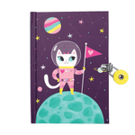 Space Cat Glow In The Dark Locked Diary Locked Diaries Mudpuppy