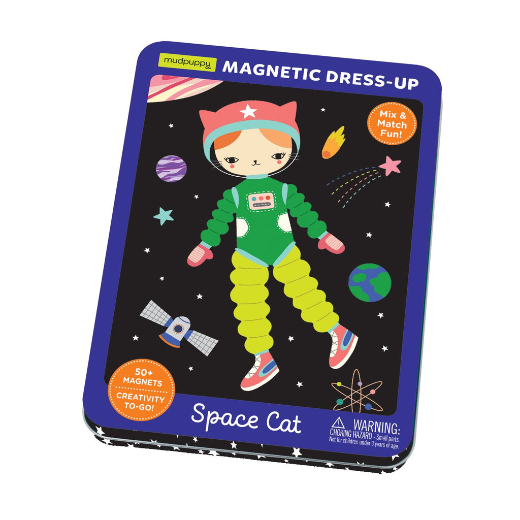 Space Cat Magnetic Tin Magnetic Tin Playsets Mudpuppy