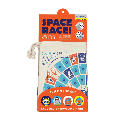 Space Race! Travel Game Board Games Mudpuppy