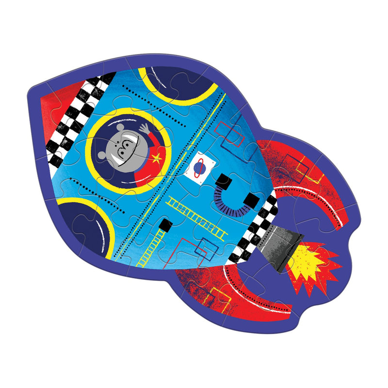 Spaceship Shaped Mini Puzzle Shaped Mini Puzzles Mudpuppy