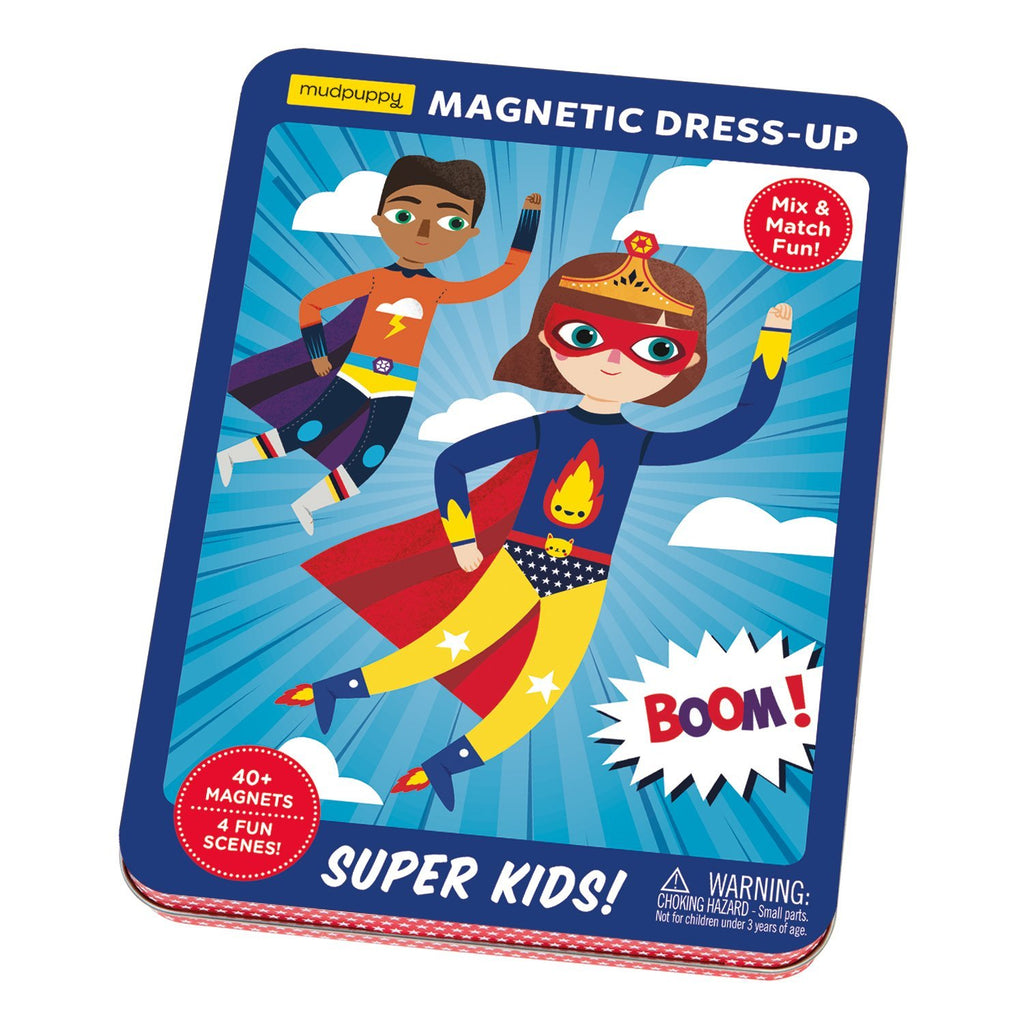 Super Kids! Magnetic Dress-up Magnetic Tin Playsets Mudpuppy