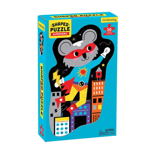 Superhero 50 Piece Shaped Character Puzzle 50 Piece Shaped Character Puzzles Mudpuppy
