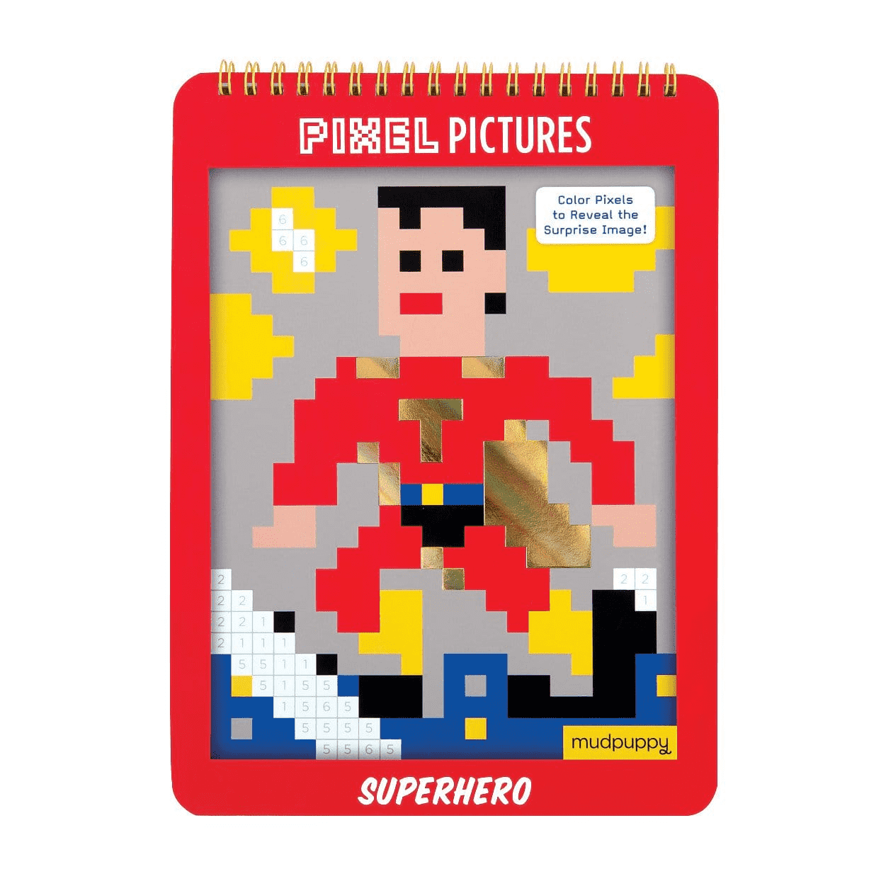 Superhero Pixel Pictures sale Mudpuppy