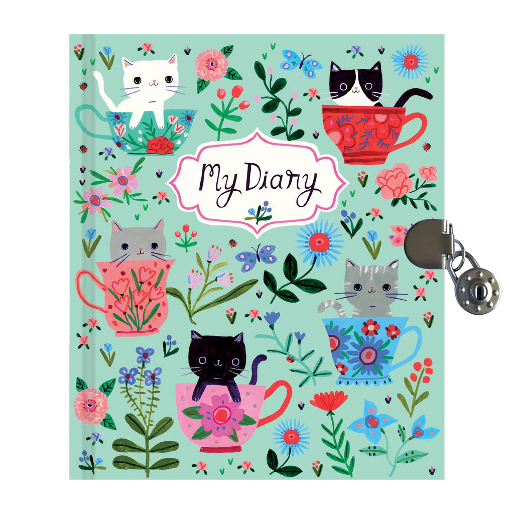 Teacup Kittens Locked Diary Locked Diaries Mudpuppy
