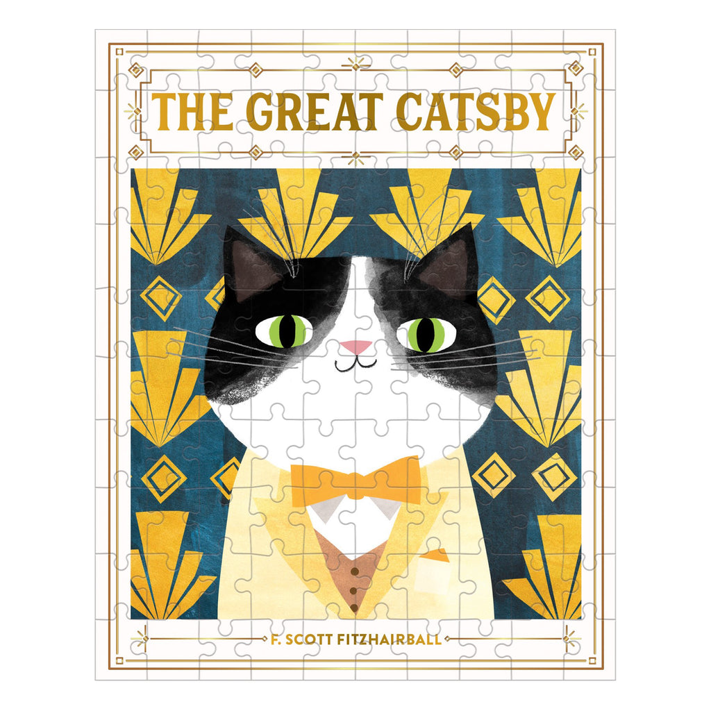 The Great Catsby Bookish Cats 100 Piece Puzzle Bookish Cats Puzzles Bookish & Artsy Cats Collection