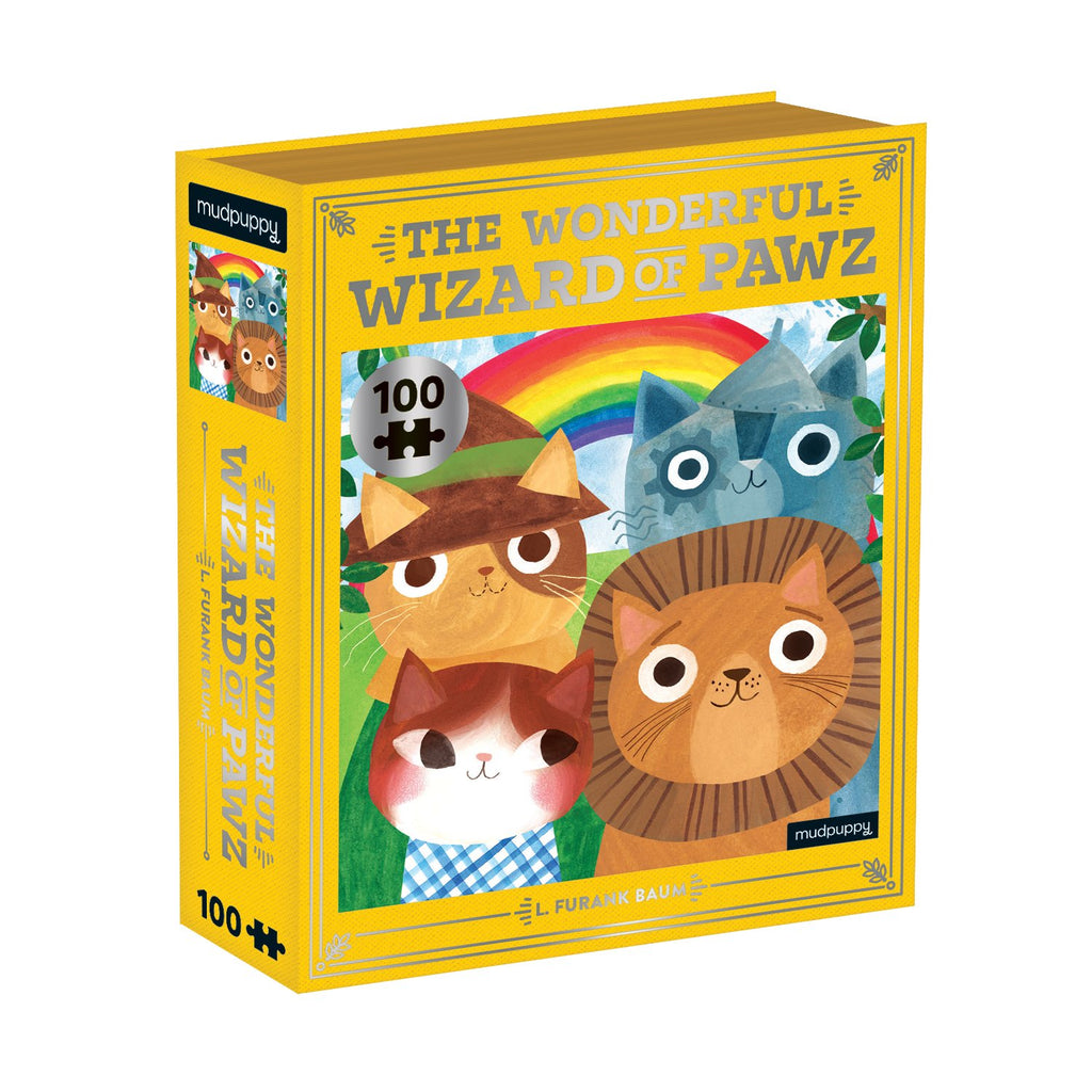 The Wonderful Wizard of Pawz Bookish Cats 100 Piece Puzzle Bookish Cats Puzzles Bookish & Artsy Cats Collection