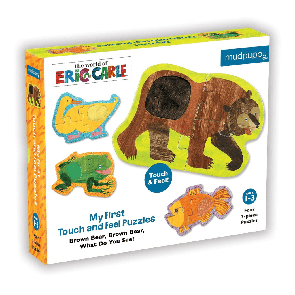 The World Of Eric Carle Brown Bear Touch & Feel Puzzle My First Touch & Feel Puzzles Mudpuppy