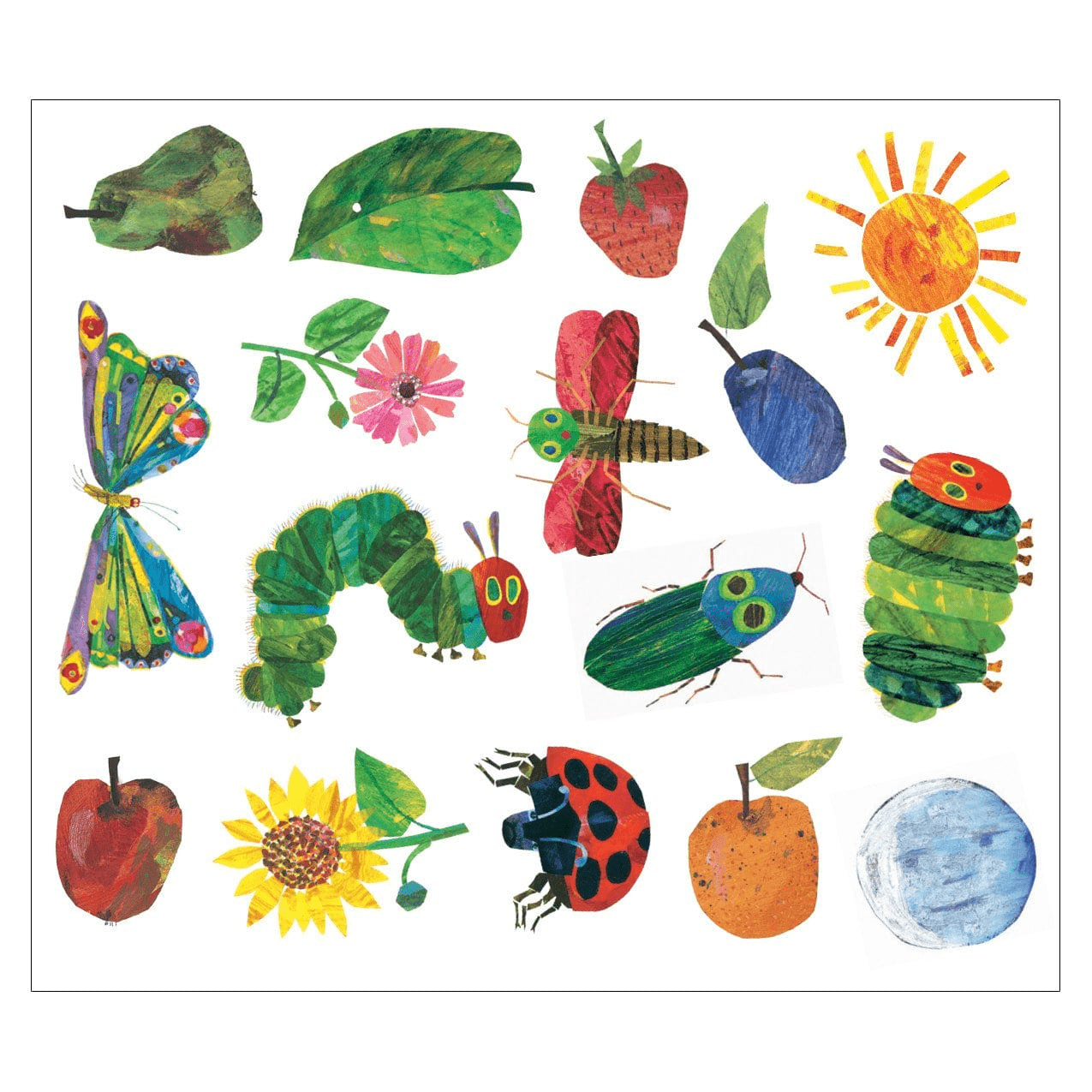 80a8d3a1e The World Of Eric Carle Very Hungry Caterpillar And Friends Magnachalk Wall  Decal Sale Mudpuppy