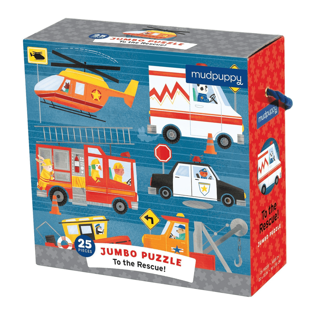 To The Rescue Jumbo Puzzle Jumbo Puzzles Mudpuppy