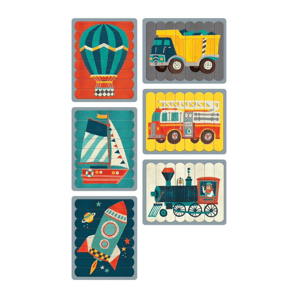 Transportation Puzzle Sticks Puzzle Sticks Mudpuppy