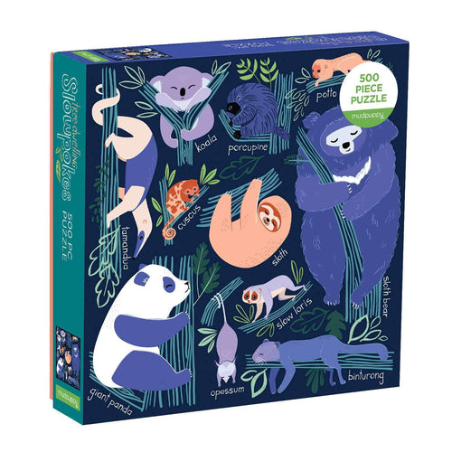 Tree-dwelling Slowpokes 500 Piece Family Puzzle Family Puzzles Mudpuppy