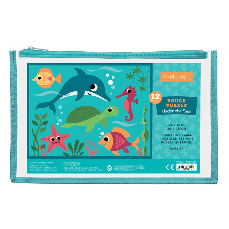 Under The Sea 12 Piece Pouch Puzzle Pouch Puzzles Mudpuppy
