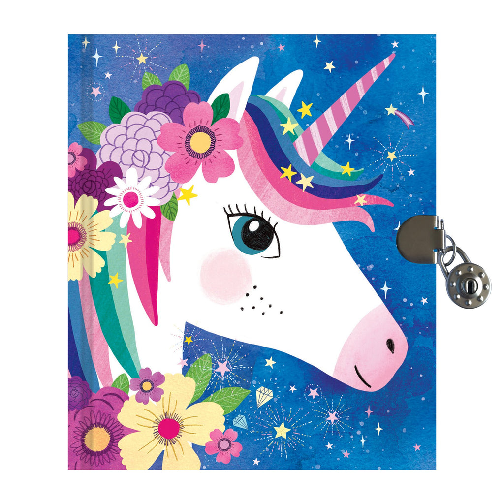 Unicorn Locked Diary Locked Diaries Mudpuppy