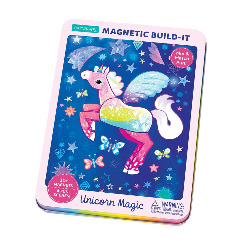 Unicorn Magic Magnetic Build-it Magnetic Tin Playsets Mudpuppy