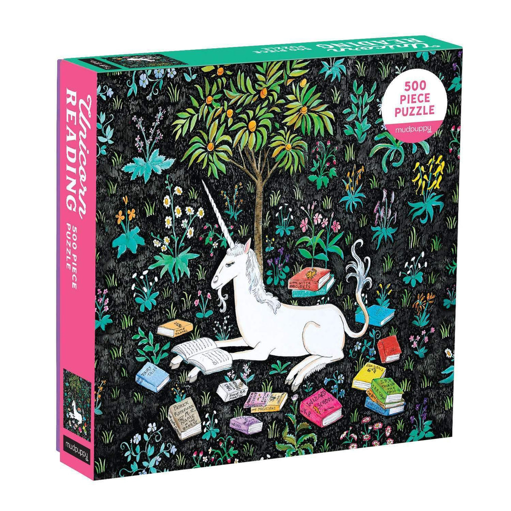 Unicorn Reading 500 Piece Family Puzzle Family Puzzles Mudpuppy