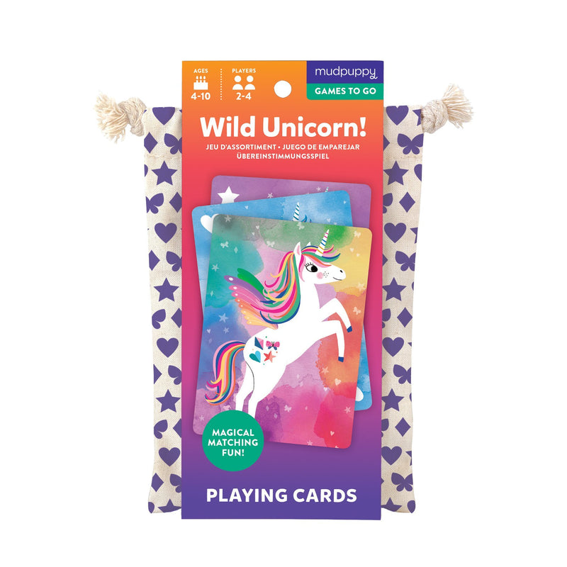Wild Unicorn! Playing Cards to Go Playing Cards Mudpuppy