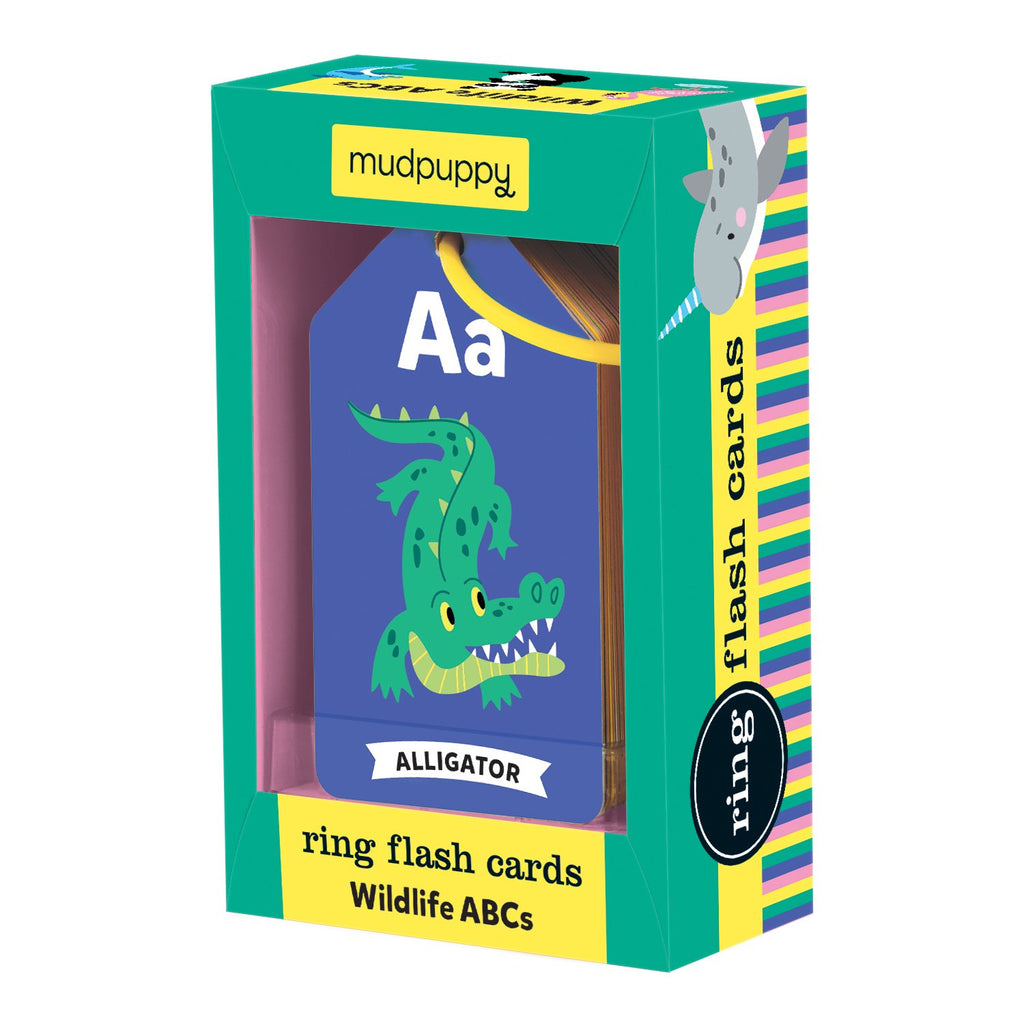 Wildlife ABCs Ring Flash Cards Ring Flash Cards Mudpuppy