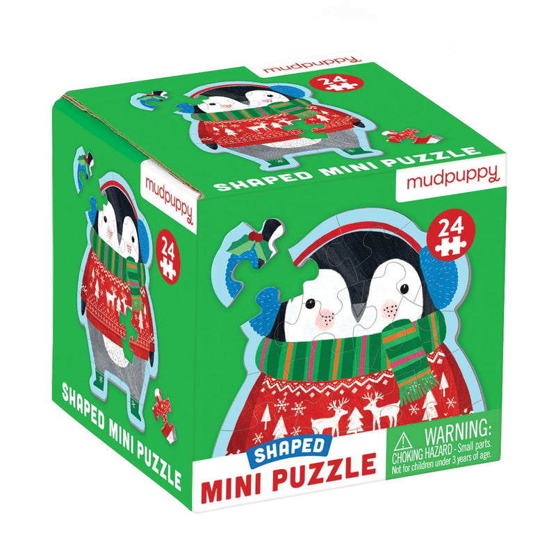 Winter Penguin Shaped Mini Puzzle Shaped Mini Puzzles Mudpuppy