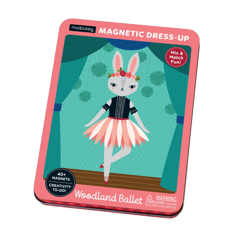 Woodland Ballet Magnetic Dress-up Magnetic Tin Playsets Mudpuppy