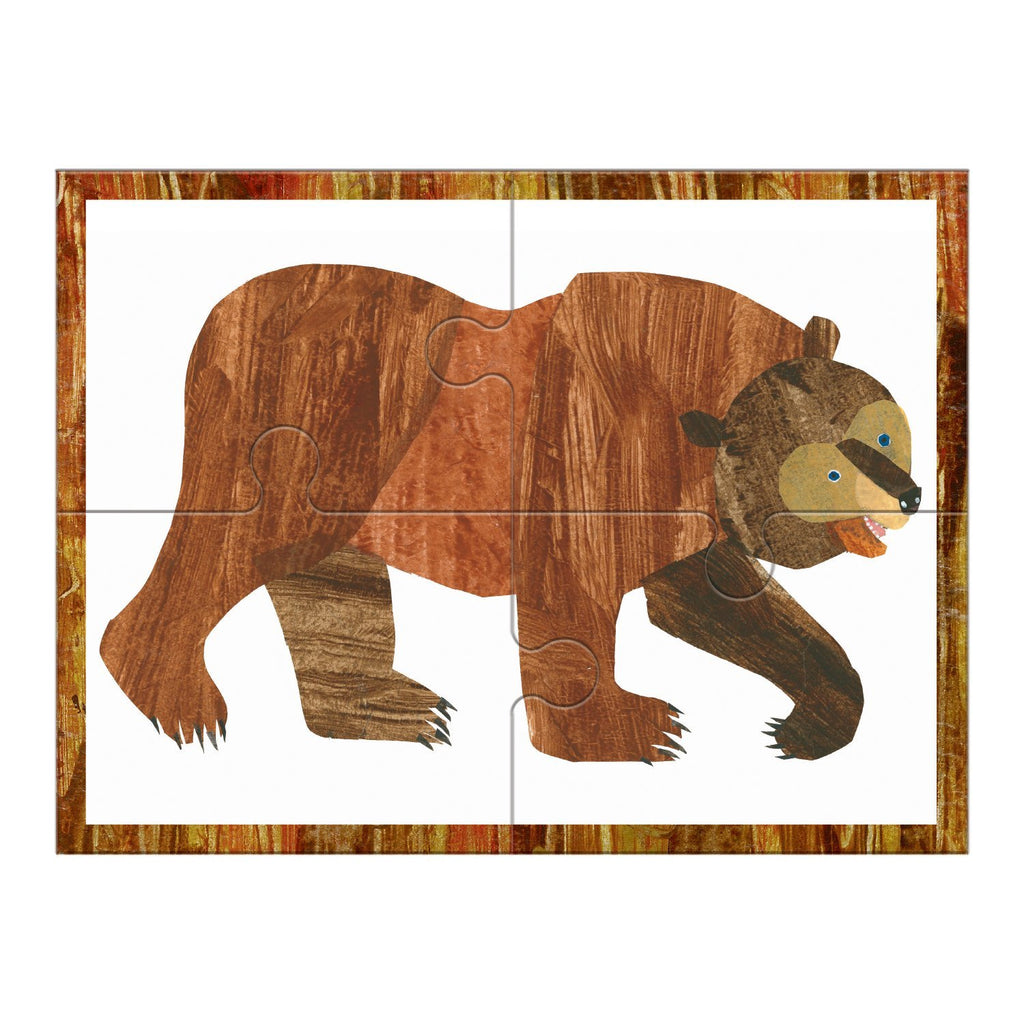 World of Eric Carle, Brown Bear 4-In-a-Box Progressive Puzzle 4-In-a-Box Progressive Puzzles Mudpuppy