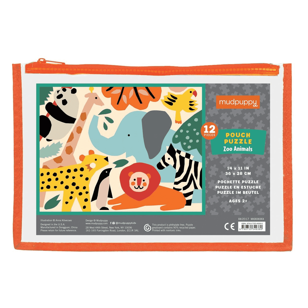 Zoo Animals Pouch Puzzle Pouch Puzzles Mudpuppy