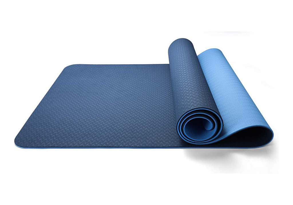 Eco Friendly Reversible Color Yoga Mat with Carrying Strap