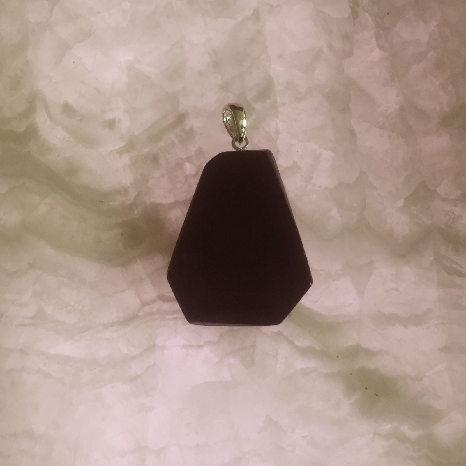 Black Tourmaline Sliced Pendant - CuartoAstral