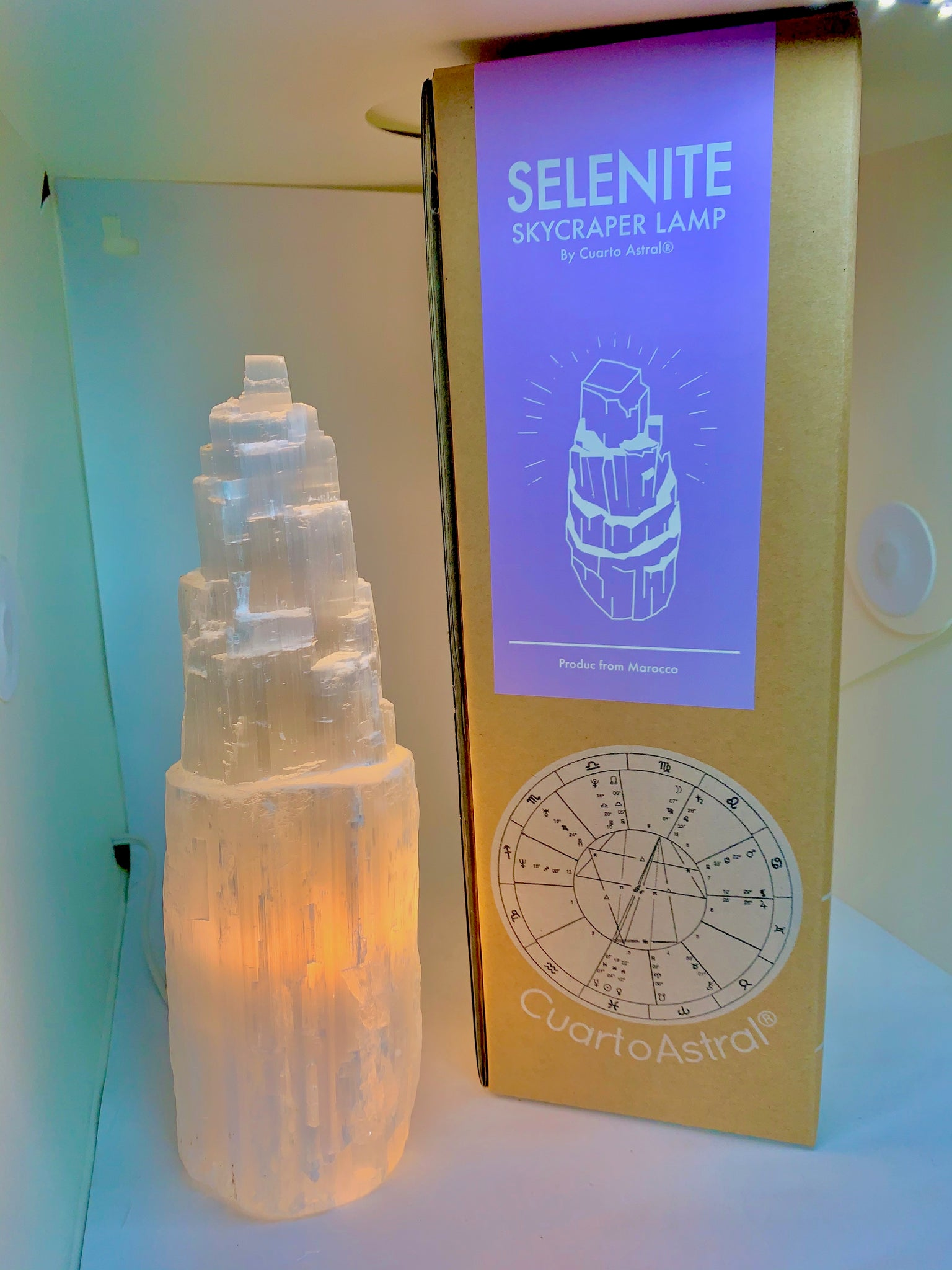 Selenite Skyscraper Lamp