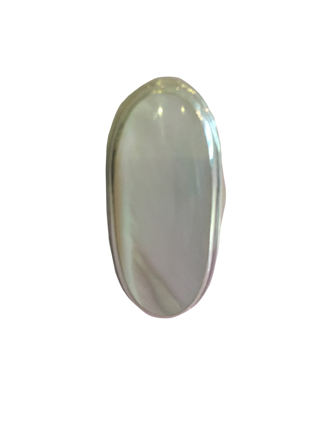 Silver Mother Of Pearl Ring - CuartoAstral