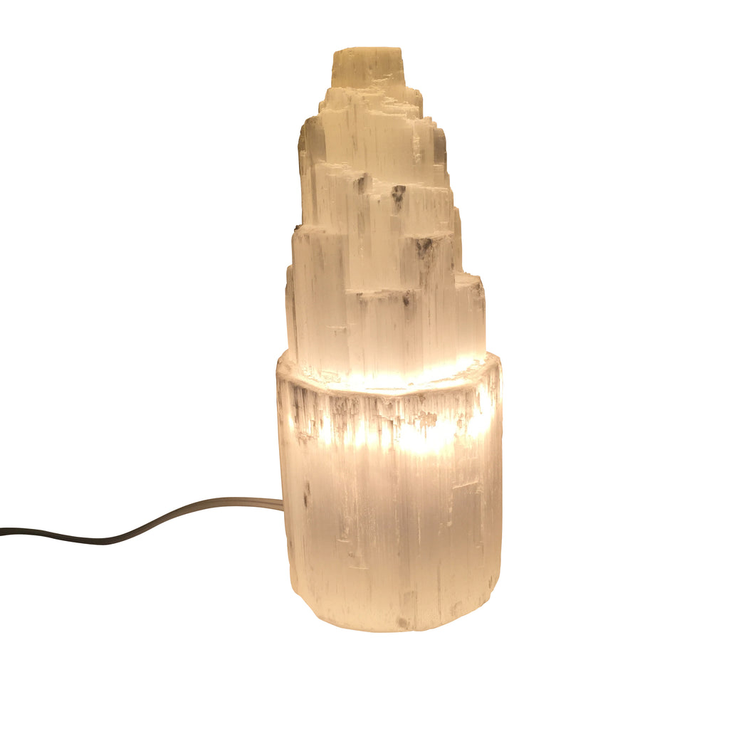 Selenite Skyscraper Lamp Small - CuartoAstral