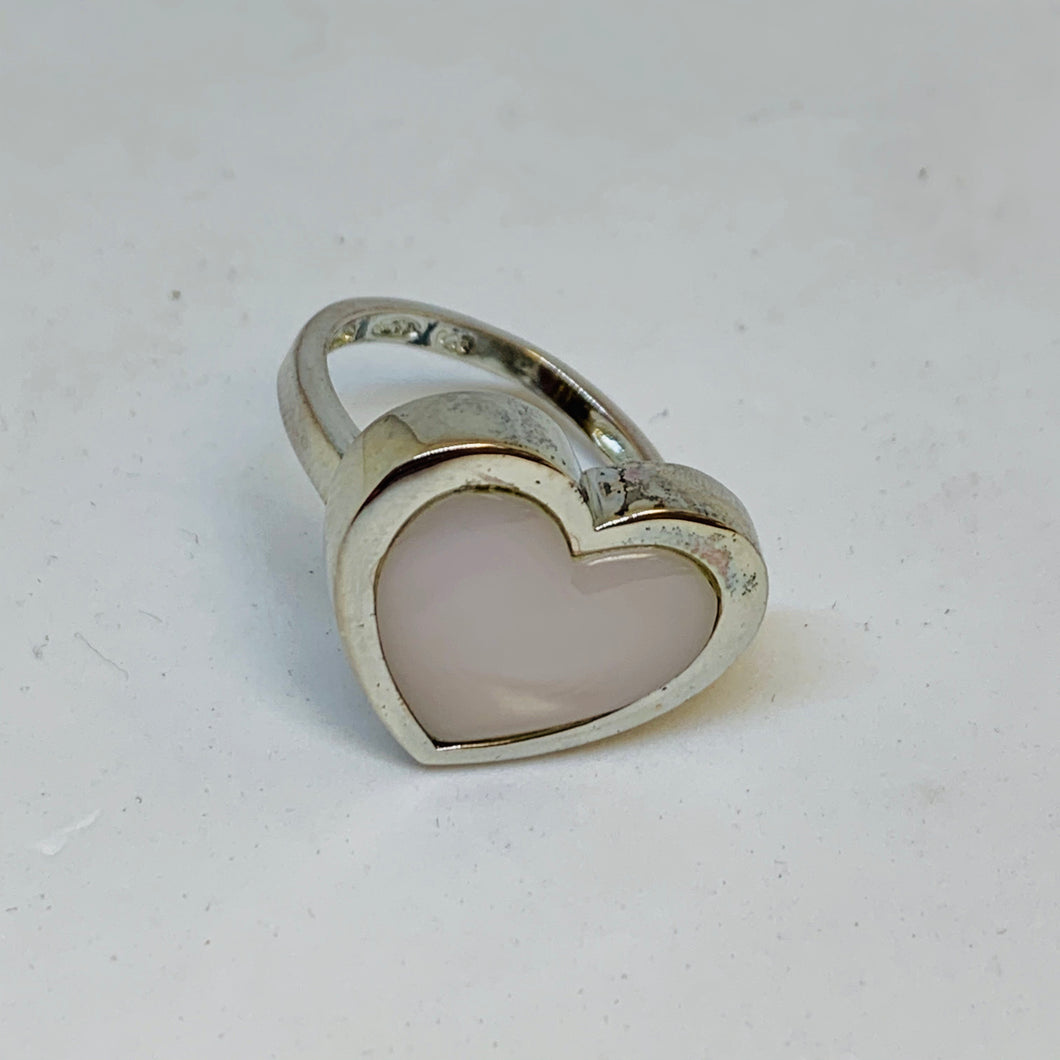 Silver Mother Of Pearl Ring (Heart)