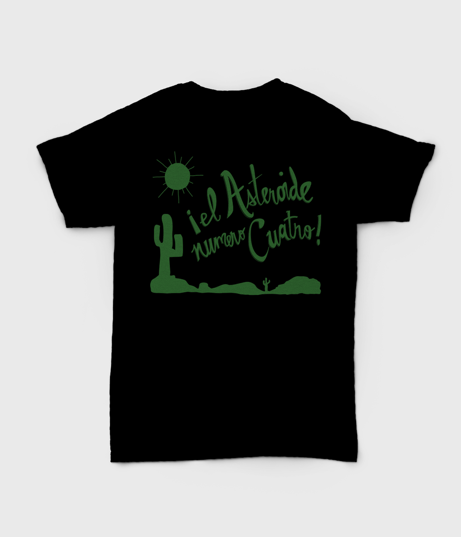 El Asteroide Numero Quatro T-shirts - Black with Green