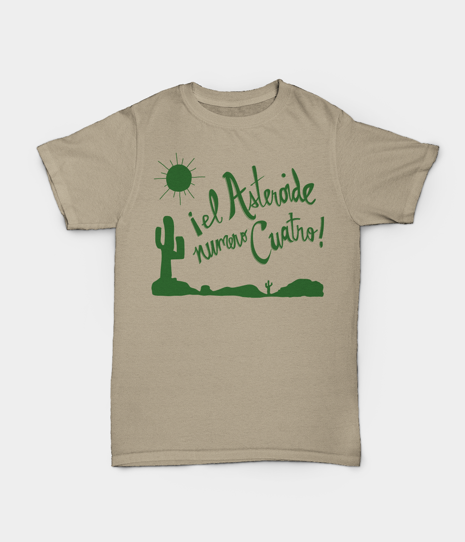 El Asteroide Numero Quatro T-shirts - Sand with Green