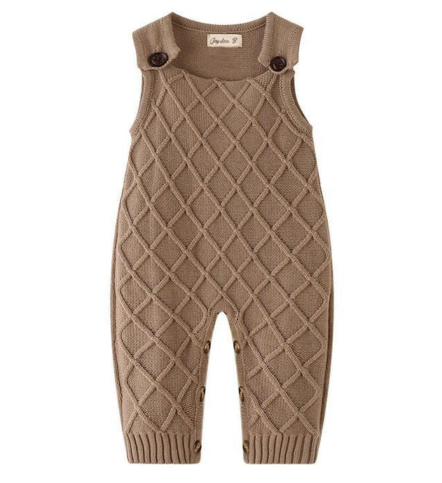 Playful Knit Overalls