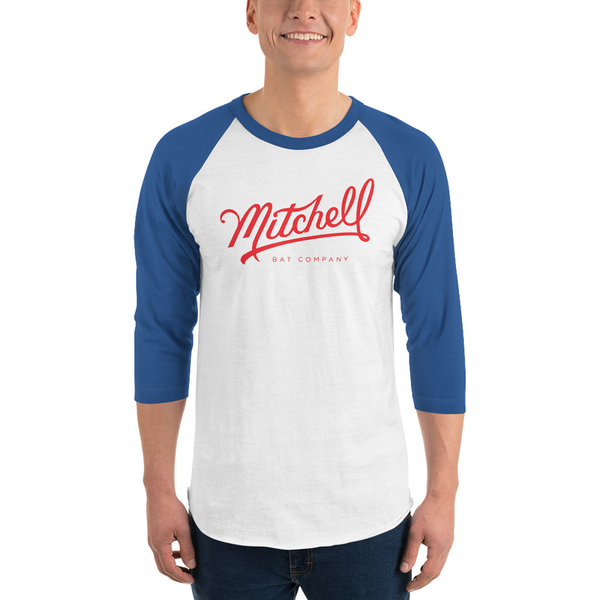 Mitchell Bat Co Raglan (blue/heather-white)