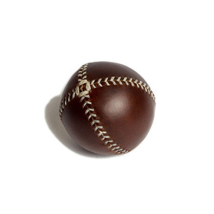 LEMON BALL™ baseball. Brown Leather, White Stitch