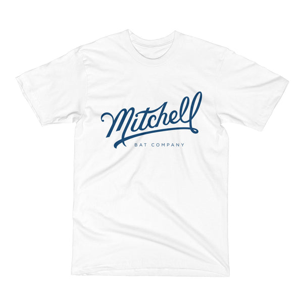 Mitchell Bat Co. short sleeve tee (white/navy)