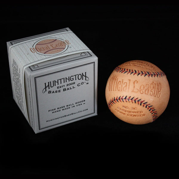 Natural Veg Tanned Baseball by Huntington Baseball Co.