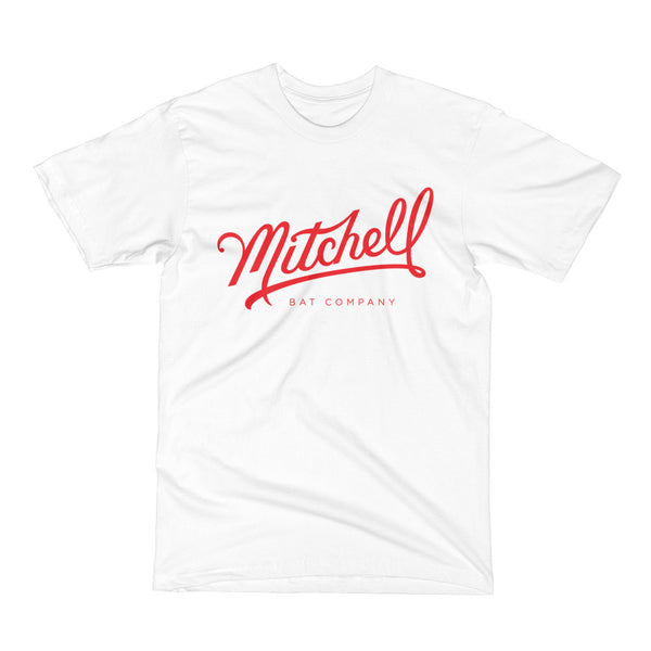 Mitchell Bat Co. short sleeve tee (white/red)