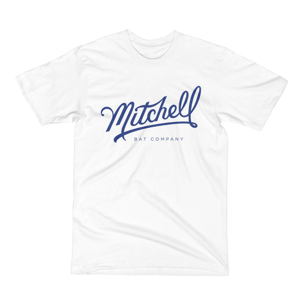 Mitchell Bat Co. short sleeve tee (white/royal blue)