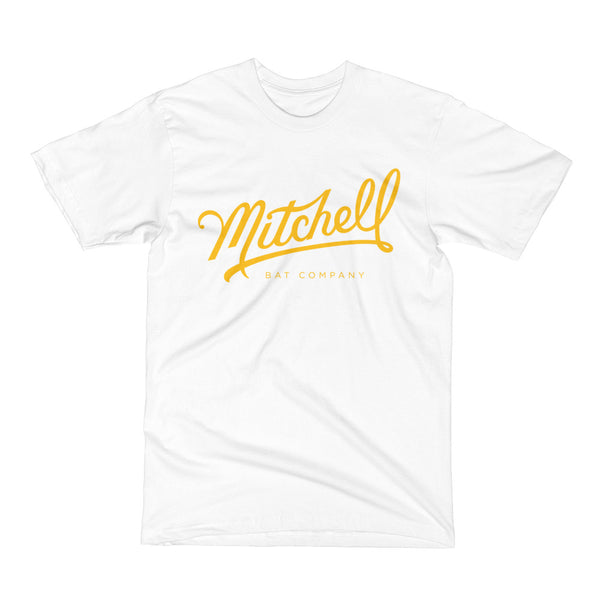 Mitchell Bat Co. short sleeve tee (white/yellow)