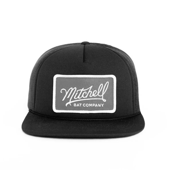 Black Mitchell Bat Co. Mesh Cap