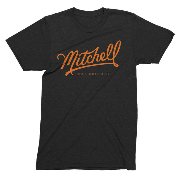 Mitchell Bat Co. short sleeve tee (black/orange)