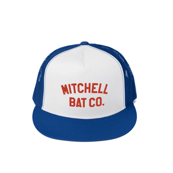White Mitchell Bat Co. Mesh Cap (royal blue)