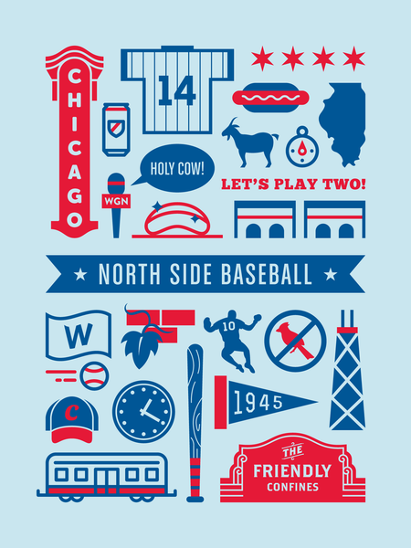 North Side Baseball poster