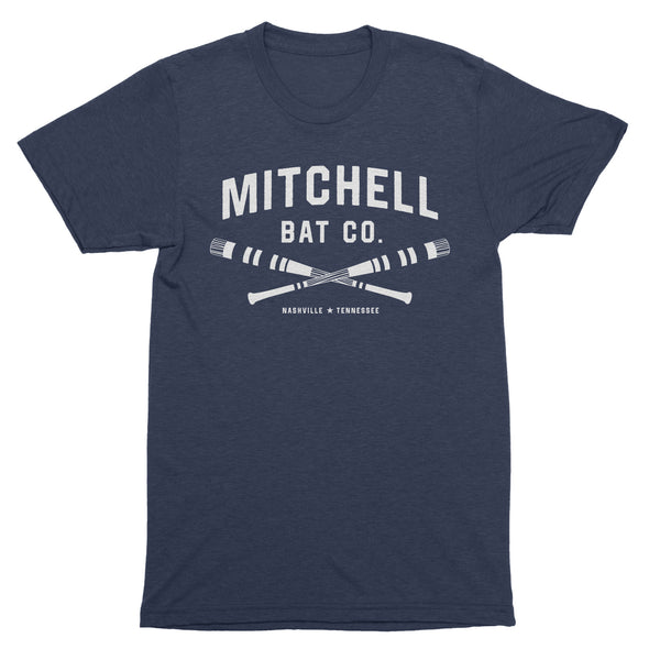 Cross bat Mitchell Bat Co. short sleeve tee (navy)