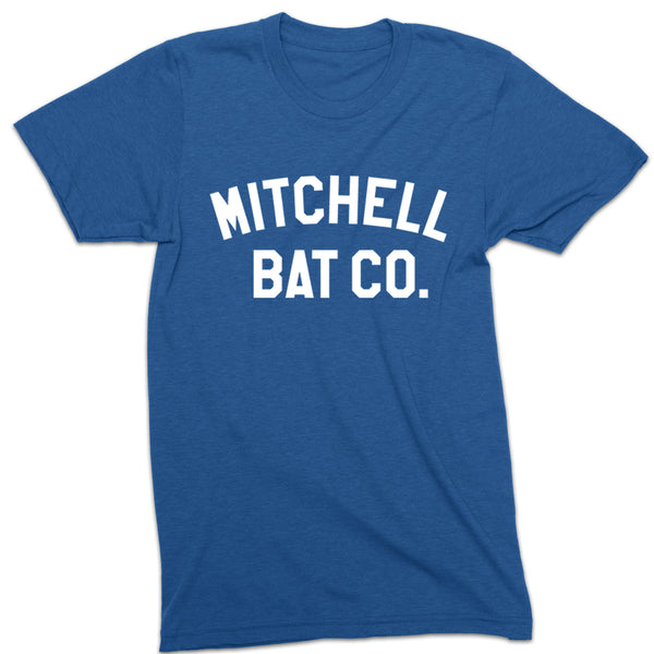 Mitchell Bat Co. short sleeve block tee (royal blue/white)
