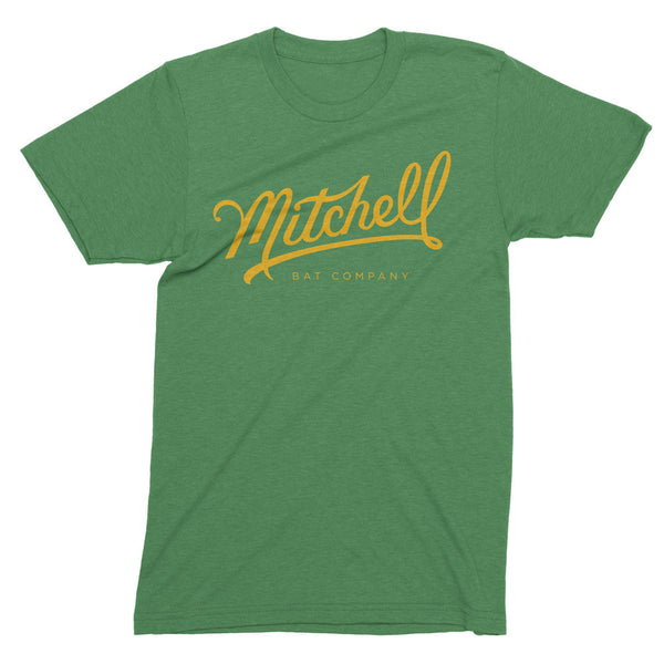Mitchell Bat Co. short sleeve tee (green/yellow)