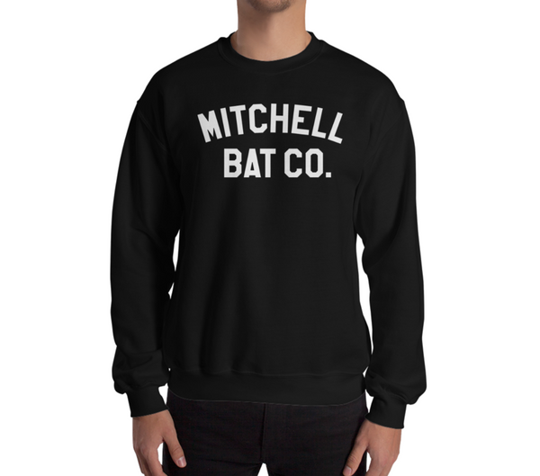 Mitchell Bat Co block logo sweatshirt (black)